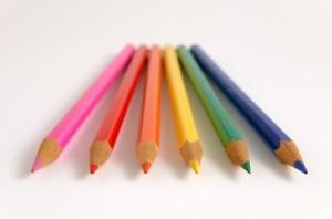 bright color pencils